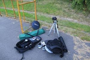 Ausrüstung für die Bewegungsunschärfe Aufgabe