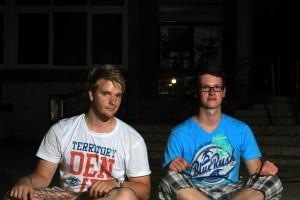 Dominik und Heinz die wenige Sekunden auseinander sitzen und zusammen die Fotoaufgabe gemeistert haben