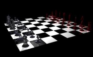 Hier ist das erste Rendering des Schachbretts