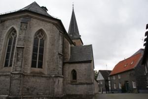 Die Kirche von Wülfrath vor der Bearbeitung