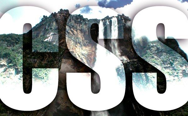 Ein Bild eines Wasserfalls, einer Kaskade. Transparent darüber sieht man den Schriftzug CSS. Es dient zur Verdeutlichung der CSS Kaskade.