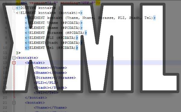XML Extensible Markup Language, das Beitragsbild zur erweiterbaren Auszeichnungssprache