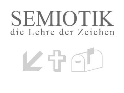 Semiotik - die Lehre der Zeichen. Hier zu sehen sind ein Index, ein Symbol, sowie ein Icon.