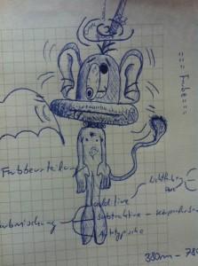 Eine Skizze von Fred, dem Symbol für die Abschlussprüfung Sommer 2013