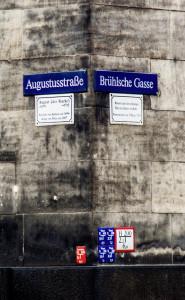 Straßenecke Augustusstraße und Brühlische Gasse in Dresden