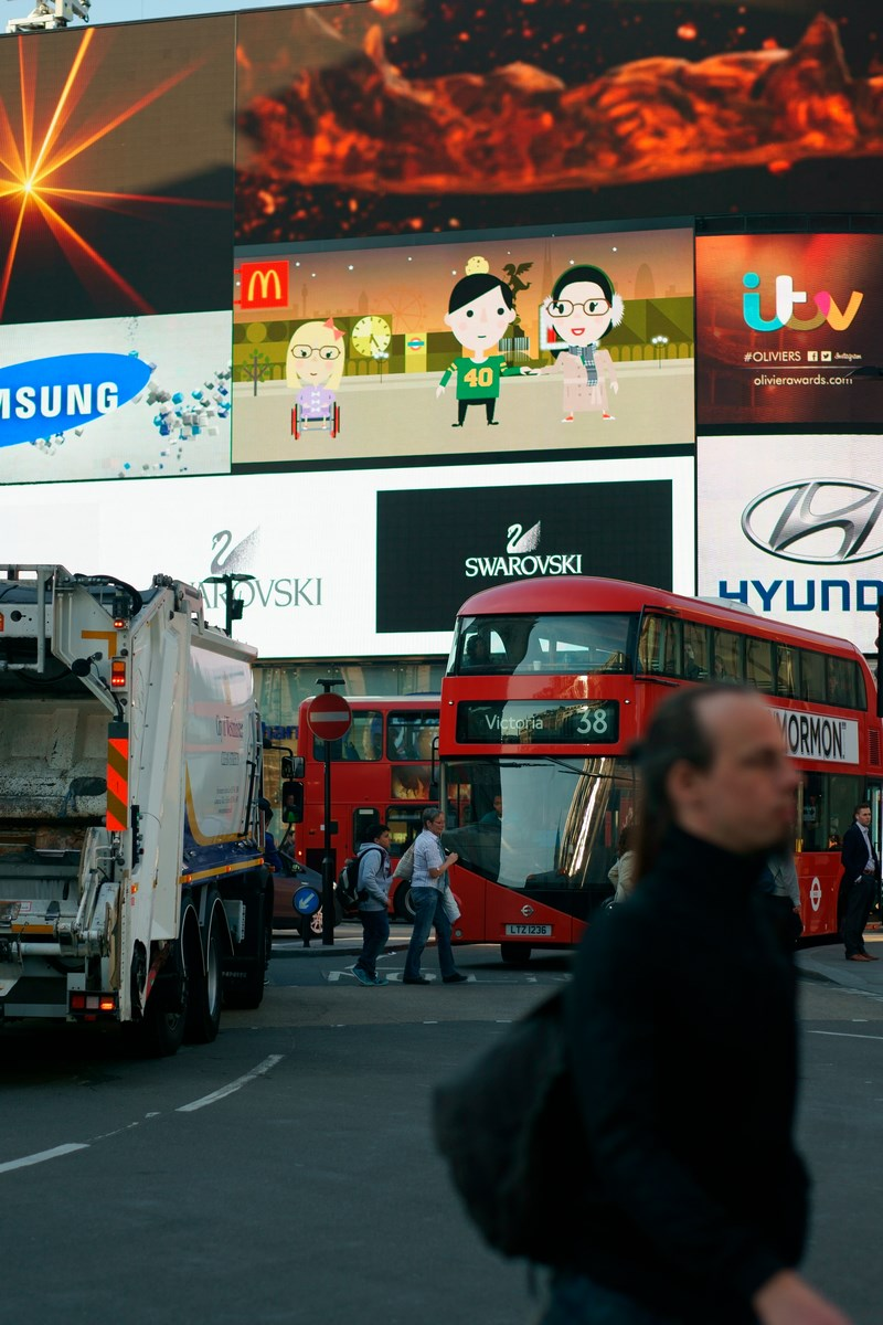 Doppeldecker Bus Piccadilly Circus London