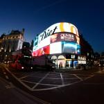 Piccadilly Circus - Fisheye-Objektiv