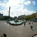Trafalgar Square mit dem Fish-Eye Objektiv fotografiert