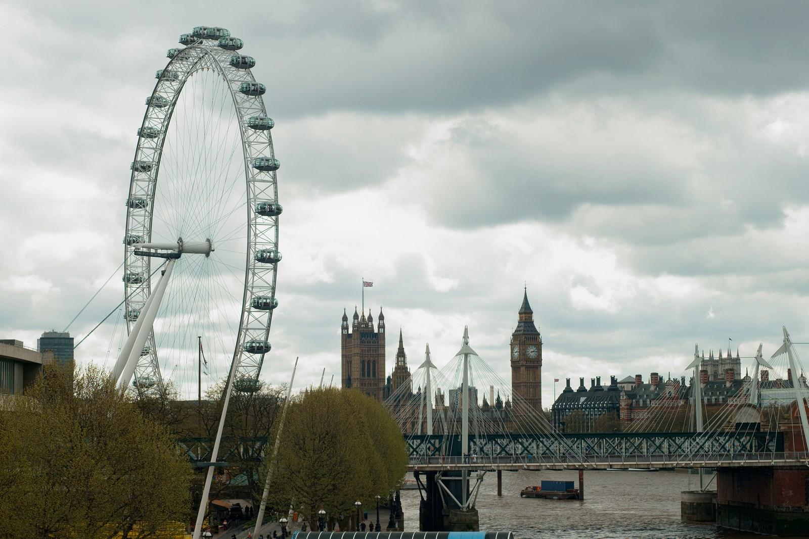 London Eye und House of Parliament