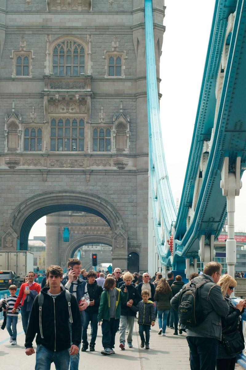 Fußgänger Tower Bridge